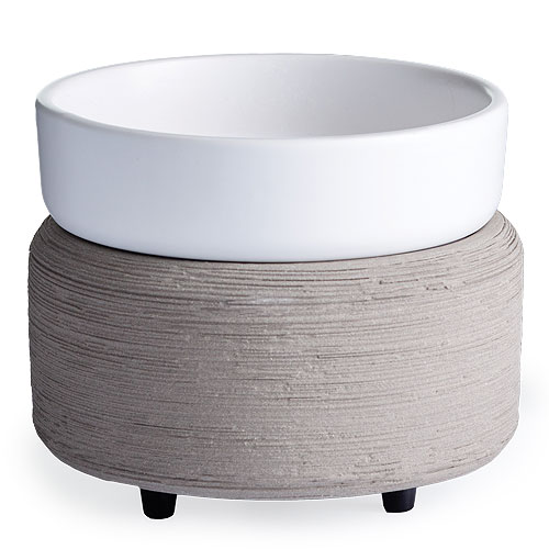 Candle Warmer & Dish Gray Texture