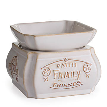 Candle Warmer & Dish Faith Family Friends
