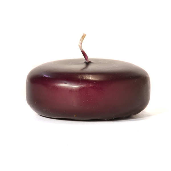 Small Plum Disc Floating Candles
