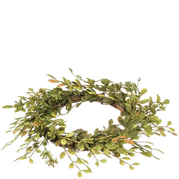 English Boxwood Candle Ring 4.5 Inch