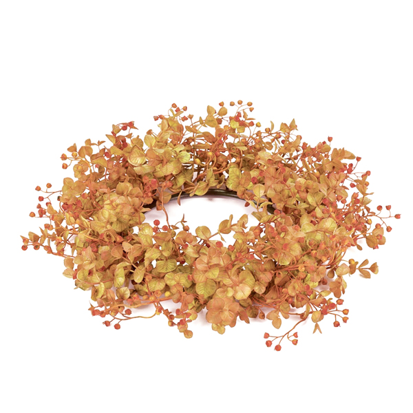Rust Eucalyptus 6.5 Inch Candle Ring