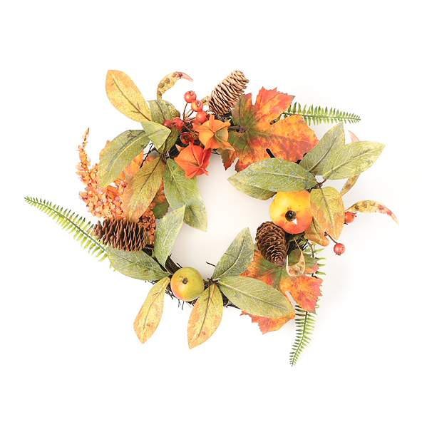 Foliage Mixed Fruit 6.5 Inch Candle Ring