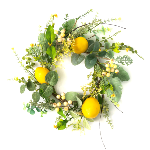 Lemon Herb 6 Inch Candle Ring