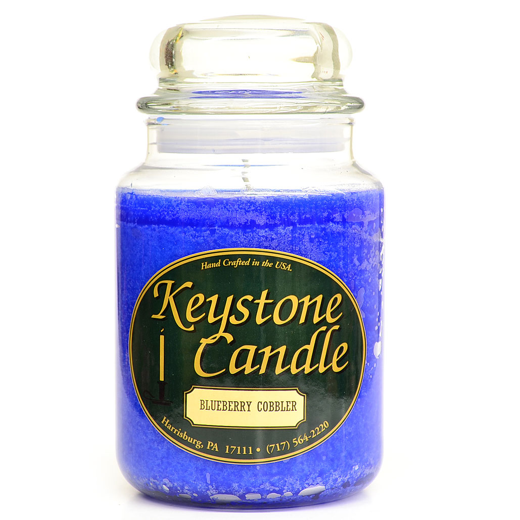 Blue Christmas Jar Candles 26 oz