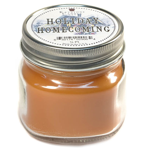 Holiday Homecoming Mason Jar Candle Half Pint