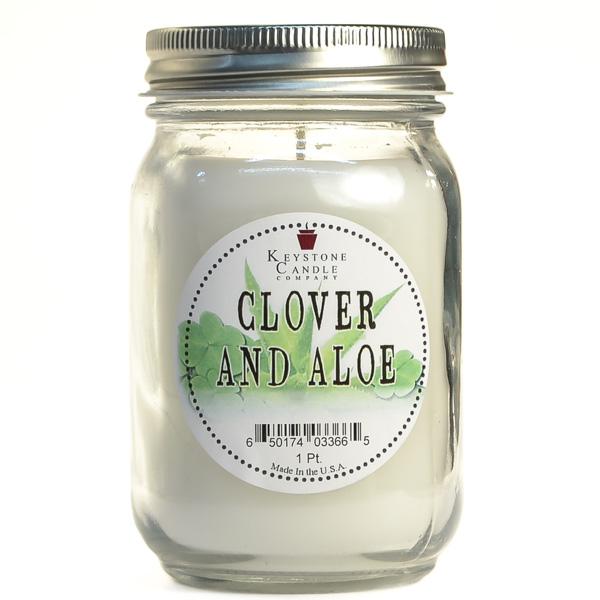 Clover and Aloe Mason Jar Candle Pint