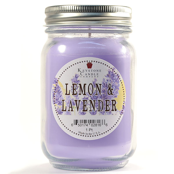 Lemon and Lavender Mason Jar Candle Pint