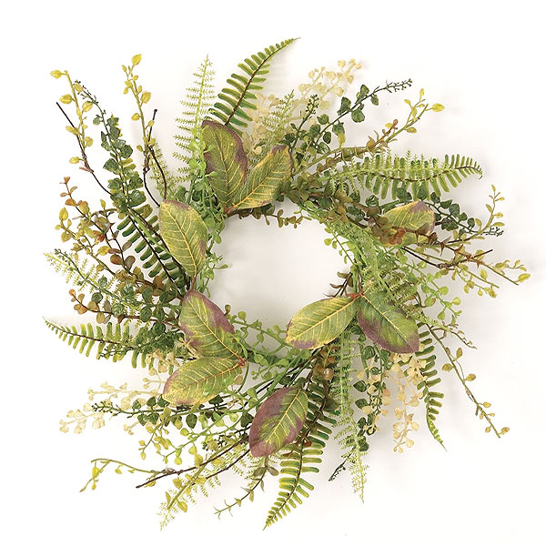 Mixed Herbs Candle Ring 6.5 Inch