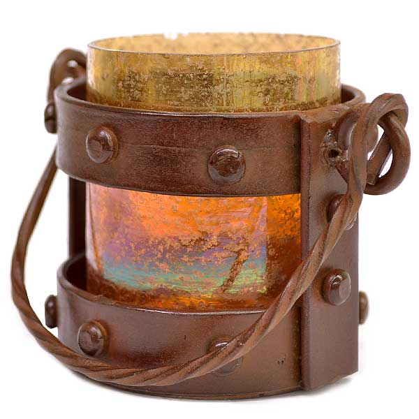 Mission Votive Lantern Amber