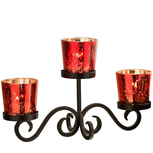 Votive Centerpiece Set Red