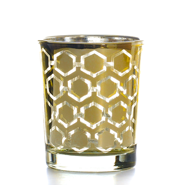 Metallic Gold Hexagonal Votive Cup