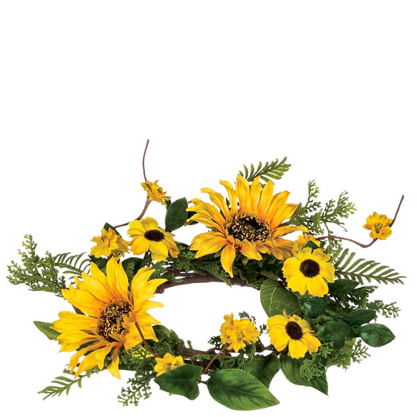 Sunflower Candle Ring 4.5 Inch
