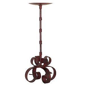 siriana iron pillar candle holder 12 inch