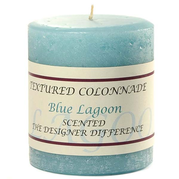 Rustic Blue Lagoon 3 x 3 Pillar Candles