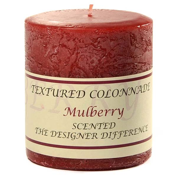 Rustic Mulberry 3 x 3 Pillar Candles