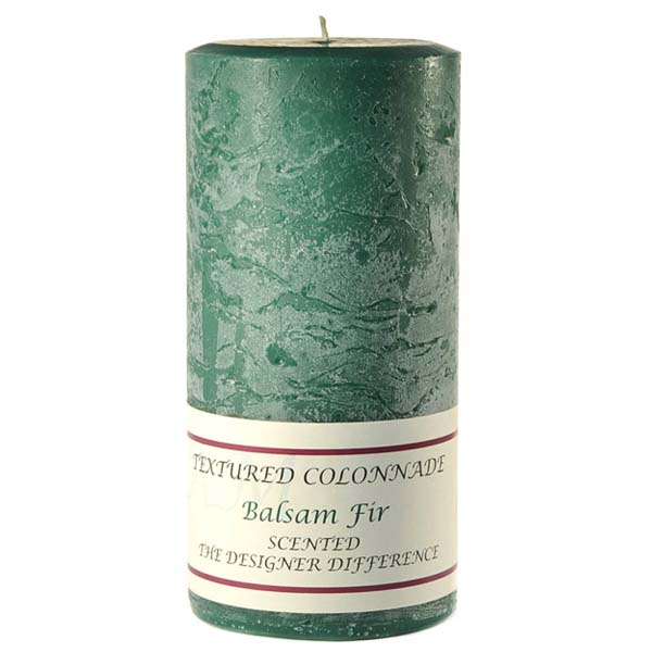 Textured Balsam Fir 4 x 9 Pillar Candles
