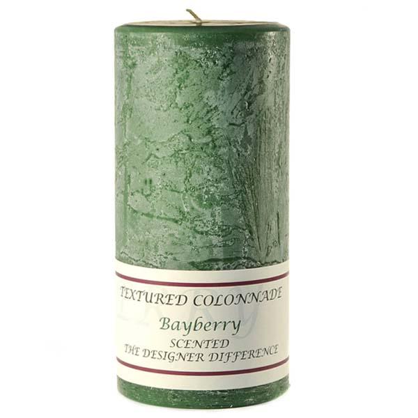 Textured Bayberry 4 x 9 Pillar Candles