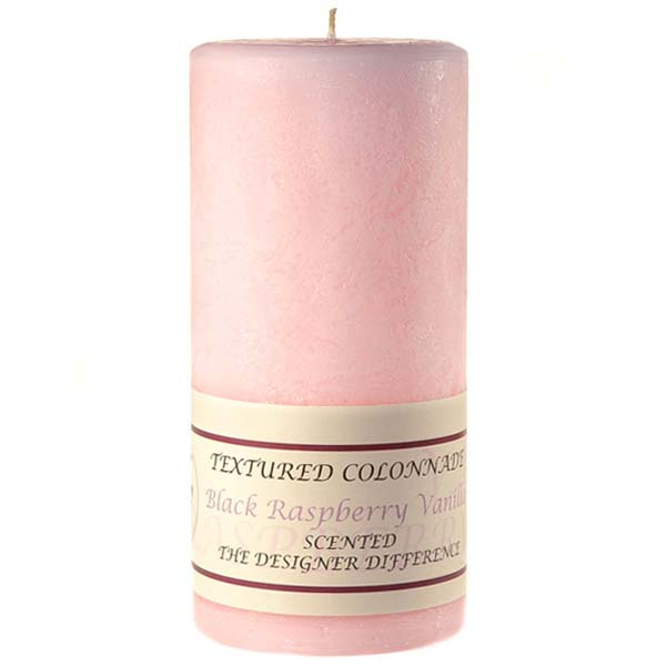Textured Black Raspberry Vanilla 4 x 9 Pillar Candles