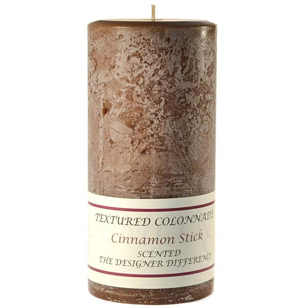 Textured Cinnamon Stick 4 x 9 Pillar Candles