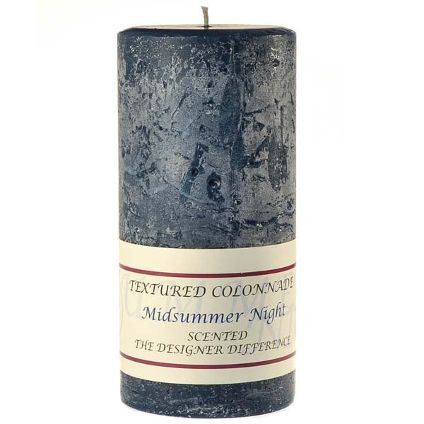 Textured Midsummer Night 3 x 6 Pillar Candles