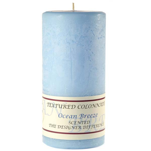 Textured Ocean Breeze 3 x 6 Pillar Candles