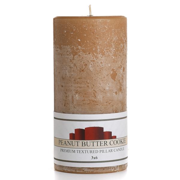Textured Peanut Butter Cookie 3 x 6 Pillar Candles