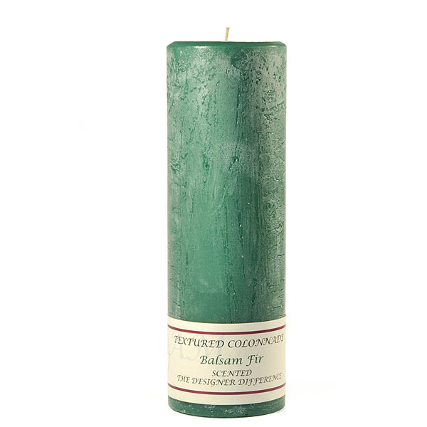Textured Balsam Fir 3 x 9 Pillar Candles