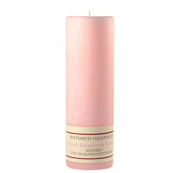 Textured Black Raspberry Vanilla 3 x 9 Pillar Candles