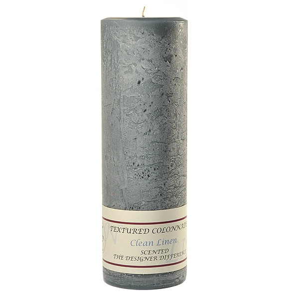 Textured Clean Cotton 3 x 9 Pillar Candles