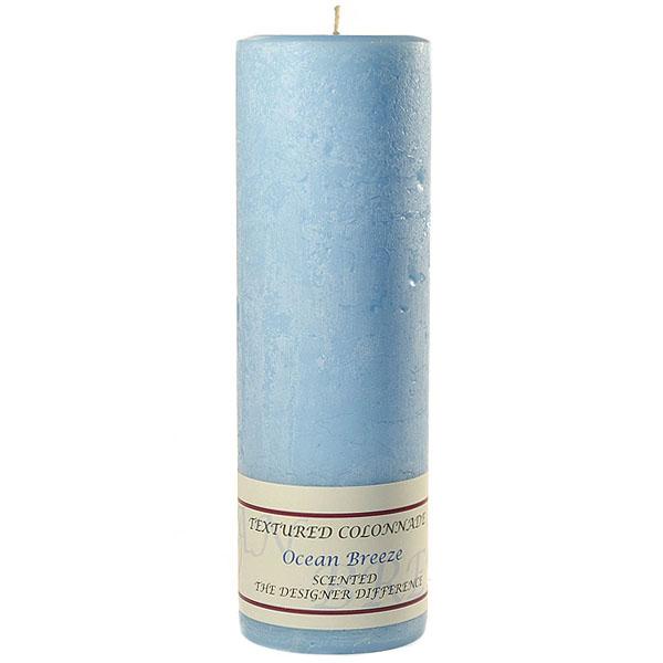 Textured Ocean Breeze 3 x 9 Pillar Candles