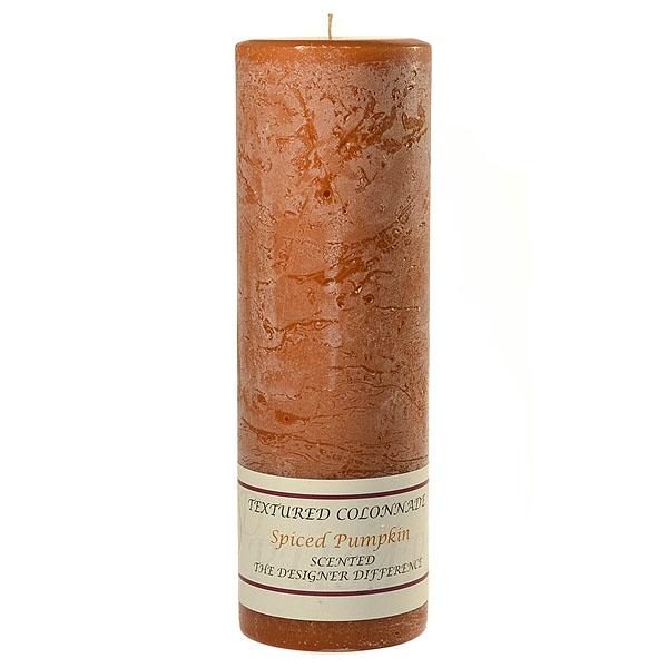 Textured Spiced Pumpkin 3 x 9 Pillar Candles