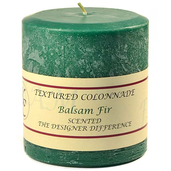 Textured Balsam Fir 4 x 4 Pillar Candles