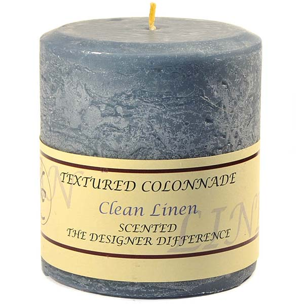 Textured Clean Cotton 4 x 4 Pillar Candles