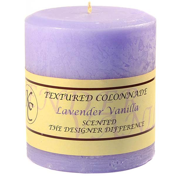Textured Lavender Vanilla 4 x 4 Pillar Candles
