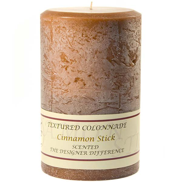 Textured Cinnamon Stick 4 x 6 Pillar Candles