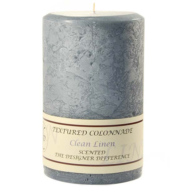 Textured Clean Cotton 4 x 6 Pillar Candles