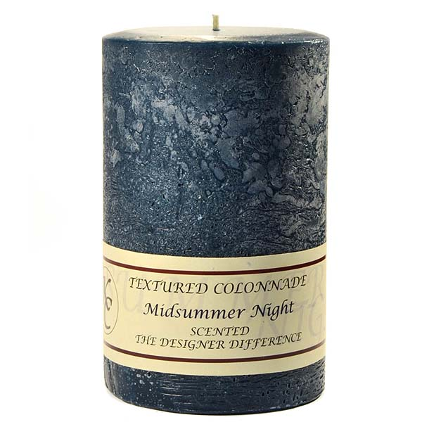 Textured Midsummer Night 4 x 6 Pillar Candles