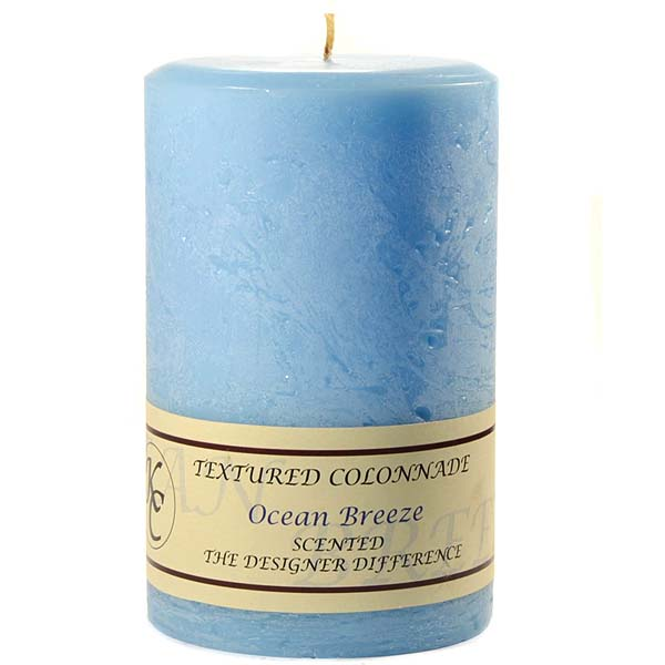 Textured Ocean Breeze 4 x 6 Pillar Candles