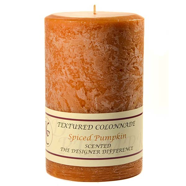 Textured Spiced Pumpkin 4 x 6 Pillar Candles