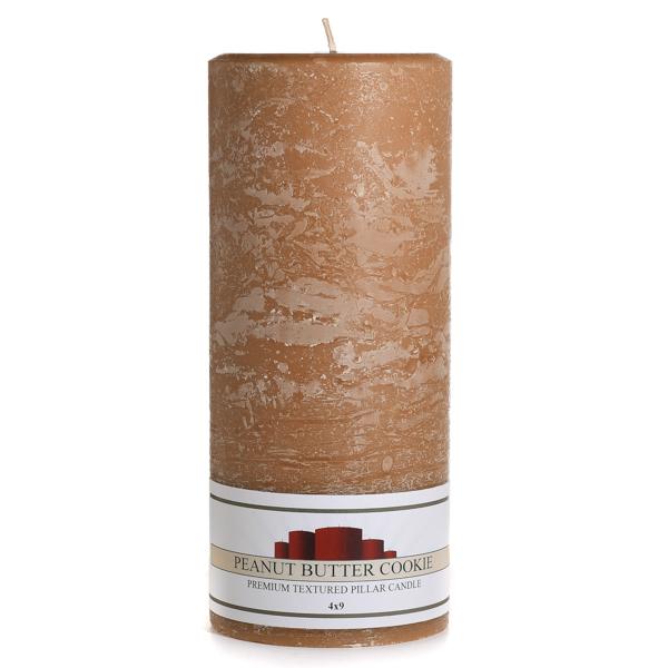 Textured Peanut Butter Cookie 4 x 9 Pillar Candles