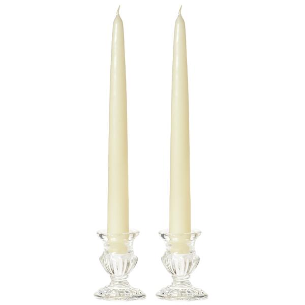 8 Inch Ivory Taper Candles Dozen