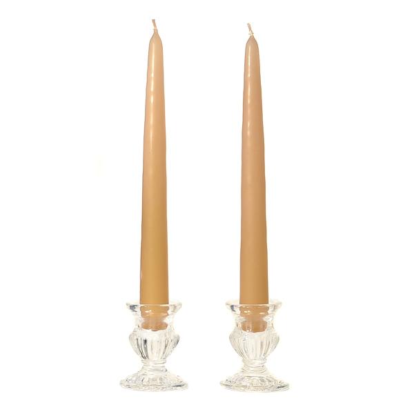 8 Inch Parchment Taper Candles Dozen