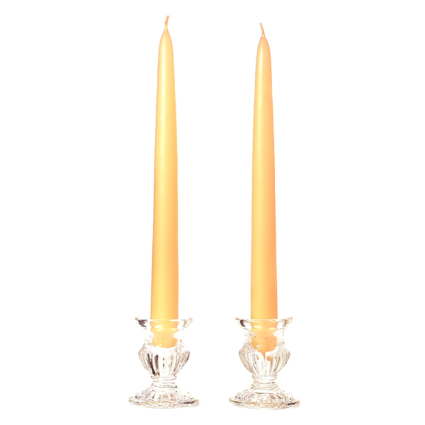 12 Inch Peach Taper Candles