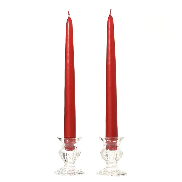 15 Inch Raspberry Taper Candles