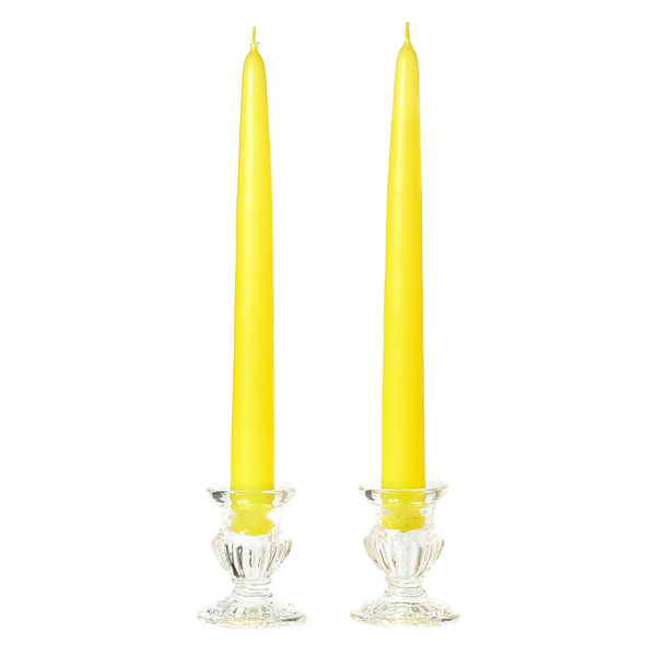 10 Inch Yellow Taper Candles