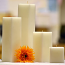 6 Inch Tall White Square Pillar Candles