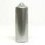 3 x 9 Metallic Silver Pillar Candles