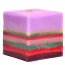Layered Square Candles 5 Inch