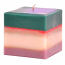Layered Square Candles 4 Inch