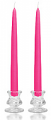 8 Inch Hot Pink Taper Candles